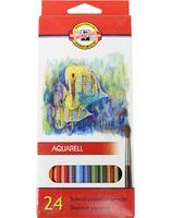 """Акварельные карандаши """"Рыбки"""" (24 цвета)"""