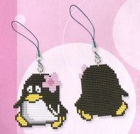 "Вышивка крестом ""Брелок. Пингвин"" (70х65 мм)"