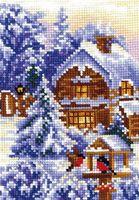 """Вышивка крестом """"Времена года. Зима"""" (100x150 мм)"""