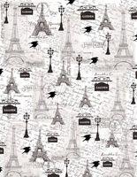 "Калька с принтом ""Ретро, Париж"" (А4)"
