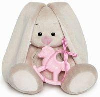 """Мягкая игрушка """"Зайка Ми с розовой лошадкой"""" (15 см)"""
