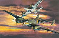 "Самолет ""Мессершмитт BF110C-7. WING TECH"" (масштаб: 1/32)"