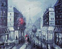 """Картина по номерам на холсте """"Париж"""" (400х500 мм)"""