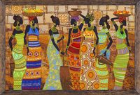 """Вышивка бисером """"Африканские красавицы"""" (760х500 мм)"""