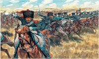 """Набор миниатюр """"Французская легкая кавалерия"""" (масштаб: 1/72)"""