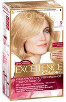 """Крем-краска для волос """"Excellence"""" (тон: 9, очень светло-русый)"""