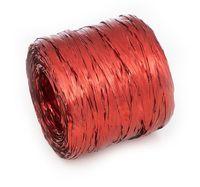 Рафия декоративная (10 м; металлизированная красная)