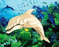 """Сборная деревянная модель """"Дельфин"""""""