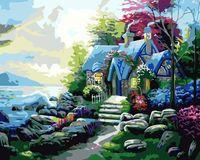 """Картина по номерам """"Уютный домик у моря"""" (400х500 мм)"""