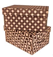 "Набор коробок ""Kardeco"" (2 шт.; коричневые; арт. GFK002c)"