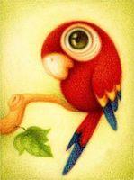 """Алмазная вышивка-мозаика """"Красный попугай"""" (250х300 мм)"""