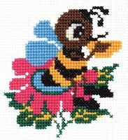 "Вышивка крестом ""Пчелка"" (110x120 мм)"