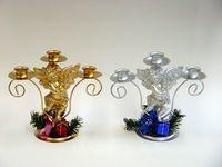 Подсвечник металлический с Ангелом на 3 свечи (19 см)