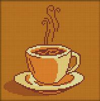 """Алмазная вышивка-мозаика """"Ваш кофе"""" (200х200 мм)"""