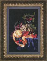 """Вышивка крестом """"Фруктовый презент с вином"""" (280x420 мм)"""