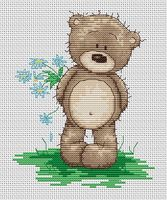 """Вышивка крестом """"Медвежонок Бруно"""" (105х135 мм)"""