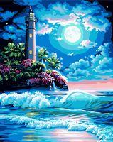 "Картина по номерам ""Маяк в ночи"" (400х500 мм)"