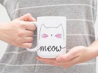 """Кружка """"Meow"""" (арт. 293)"""