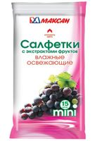 """Влажные салфетки """"Мини. С экстрактами фруктов"""" (15 шт)"""
