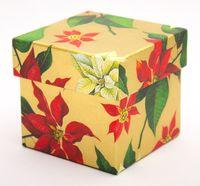 """Подарочная коробка """"Poinsettia"""" (7,5х7,5х7,5 см)"""