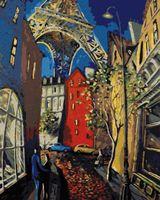 """Картина по номерам """"Мигель Фрейтас. Романтика Парижа"""" (500х400 мм)"""