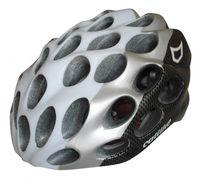 "Шлем велосипедный ""Whisper Plus"" (L; белый/карбон/серебристый)"