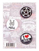 """Набор значков маленьких """"Rock"""""""