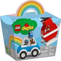 """LEGO Duplo """"Пожарный вертолет и полицейский автомобиль"""""""