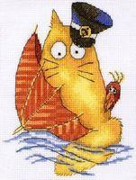 """Вышивка крестом """"Эй, на корабле!"""""""